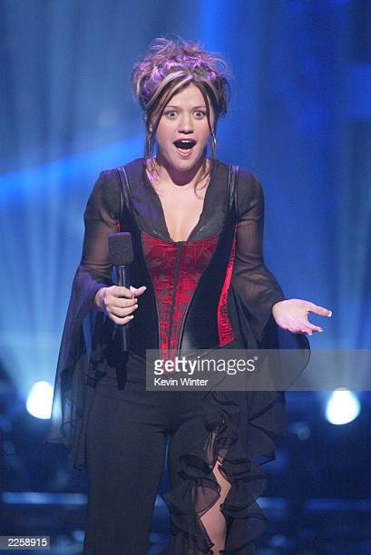 Kelly Clarkson at FOX TV's American Idol broadcast live from Television City in Los Angeles Ca Tuesday July 16 2002 Photo by Kevin...