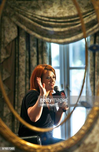 Kelly Clarkson attends a press conference at the Westcliff hotel during her first tour in South Africa on March 11 2010 in Johannesburg South Africa