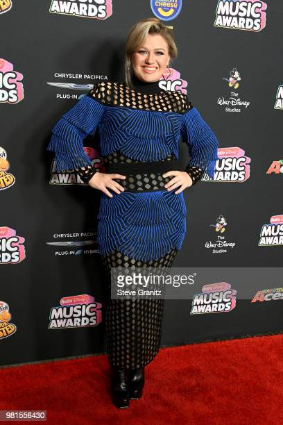 Kelly Clarkson attends the 2018 Radio Disney Music Awards at Loews Hollywood Hotel on June 22 2018 in Hollywood California