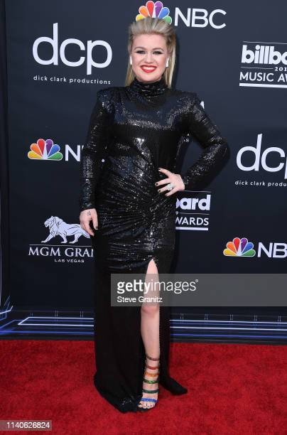 Kelly Clarkson attends the 2019 Billboard Music Awards at MGM Grand Garden Arena on May 1 2019 in Las Vegas Nevada