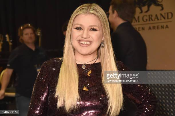 Kelly Clarkson attends the 53rd Academy of Country Music Awards at MGM Grand Garden Arena on April 15 2018 in Las Vegas Nevada