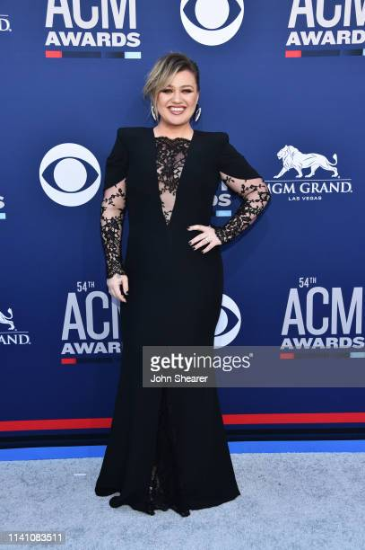 Kelly Clarkson attends the 54th Academy Of Country Music Awards at MGM Grand Hotel Casino on April 07 2019 in Las Vegas Nevada