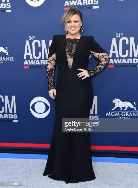 Kelly Clarkson attends the 54th Academy of Country Music Awards at MGM Grand Garden Arena on April 07 2019 in Las Vegas Nevada