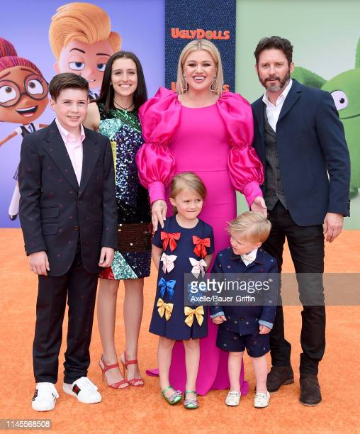 Kelly Clarkson Brandon Blackstock Savannah Blackstock River Rose Blackstock Remington Alexander Blackstock and Seth Blackstock attend STX Films World...