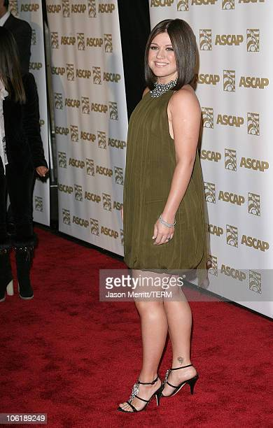 Kelly Clarkson during 24th Annual ASCAP Pop Music Awards Arrivals at Kodak Theatre in Hollywood California United States