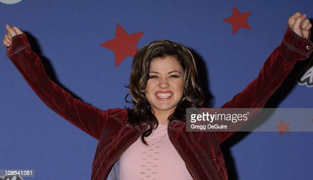 Kelly Clarkson during American Idol Season 1 Finale Results Show Press Room at Kodak Theatre in Hollywood California United States