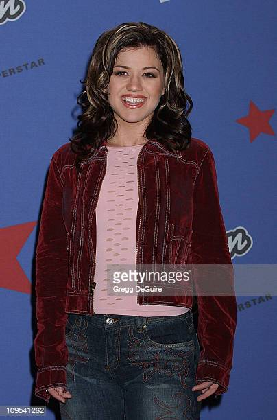 Kelly Clarkson during 'American Idol' Season 1 Finale Results Show Press Room at Kodak Theatre in Hollywood California United States
