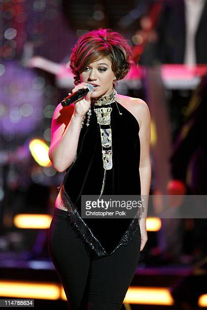 Kelly Clarkson during CMT Giants Honoring Reba McEntire Show at Kodak Theater in Hollywood California United States