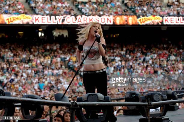 Kelly Clarkson during KIIS 1027's Wango Tango at Angel's Stadium in Anaheim California United States
