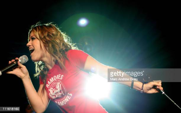 Kelly Clarkson during KISS 108 FM Jingle Ball 2004 - Show at Tsongas Arena in Lowell, Massachusetts, United States.