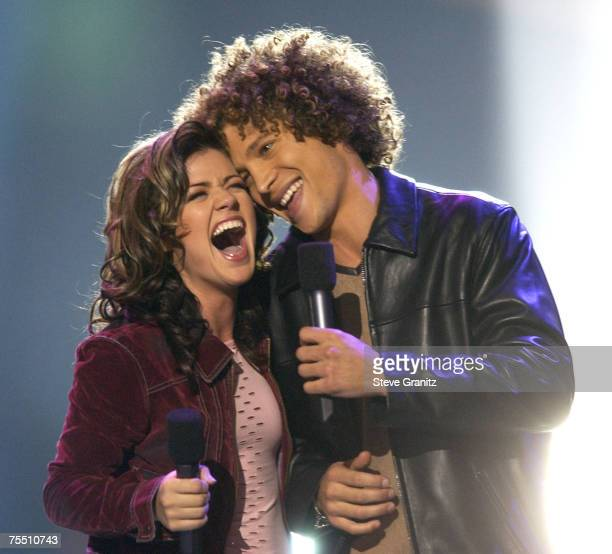 Kelly Clarkson Justin Guarini at the Kodak Theatre in Hollywood California