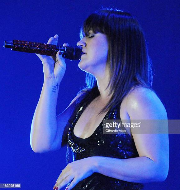 Kelly Clarkson performs At Universal Orlando's Mardi Gras at Universal Orlando on February 18 2012 in Orlando Florida