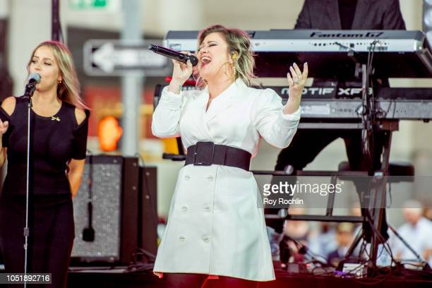 Kelly Clarkson performs during NBC's 'Today' Celebrates The International Day of The Girl at Rockefeller Plaza on October 11 2018 in New York City