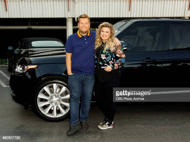 Kelly Clarkson performs in a Carpool Karaoke with James Corden during 'The Late Late Show with James Corden' Wednesday November 29 2017 On The CBS...