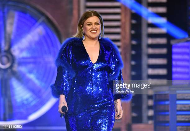 Kelly Clarkson performs onstage during the 54th Academy Of Country Music Awards at MGM Grand Garden Arena on April 07 2019 in Las Vegas Nevada