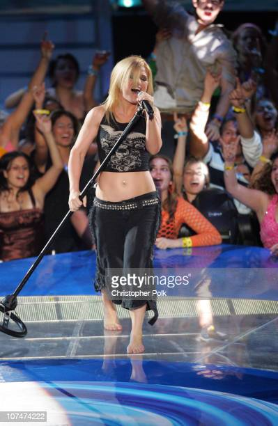 Kelly Clarkson performs Since You've Been Gone during 2005 MTV Video Music Awards Show at American Airlines Arena in Miami Florida United States