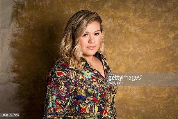 Kelly Clarkson poses for a photo during an appearance to give an exclusive performance at iHeartRadio Theater on March 2 2015 in New York City