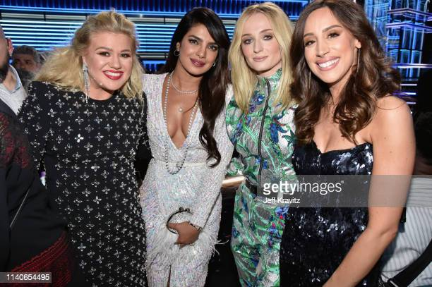 Kelly Clarkson Priyanka Chopra Sophie Turner and Danielle Jonas attend the 2019 Billboard Music Awards at MGM Grand Garden Arena on May 1 2019 in Las...