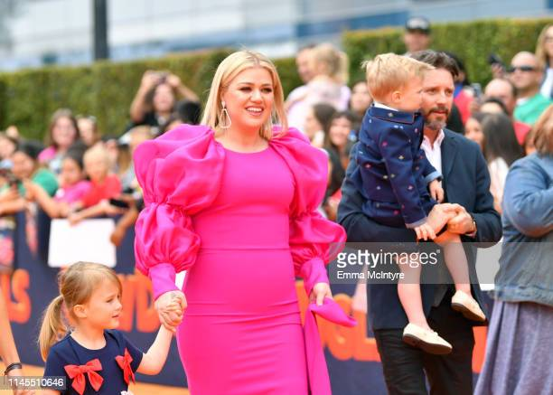 Kelly Clarkson Remington Alexander Blackstock and Brandon Blackstock attend STX Films World Premiere of UglyDolls at Regal Cinemas LA Live on April...