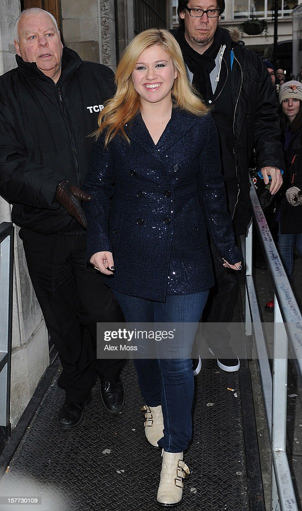 Kelly Clarkson seen at BBC Radio 1 on December 6, 2012 in London, England.