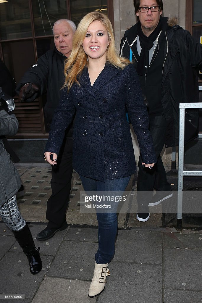 Kelly Clarkson seen at BBC Radio One on December 6, 2012 in London, England.
