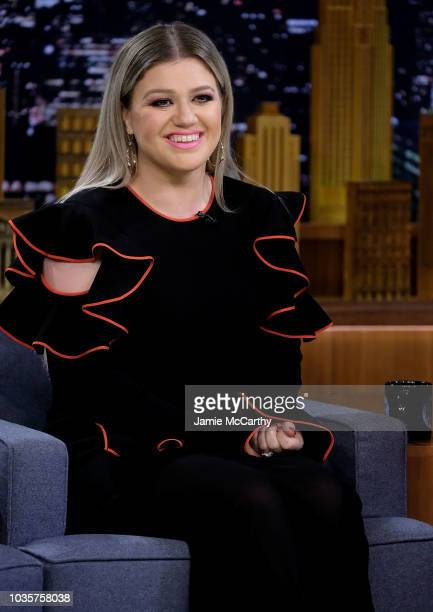 Kelly Clarkson visits 'The Tonight Show Starring Jimmy Fallon' at Rockefeller Center on September 18 2018 in New York City