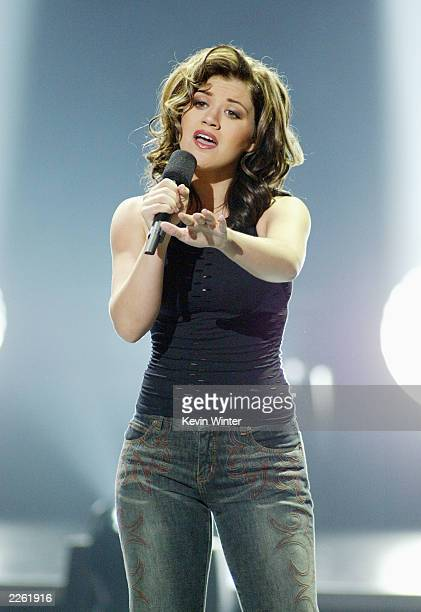 Kelly Clarkson was voted the winner at FOXTV's 'American Idol' finale at the Kodak Theatre in Hollywood Ca Wednesday Sept 4 2002 Photo by Kevin...