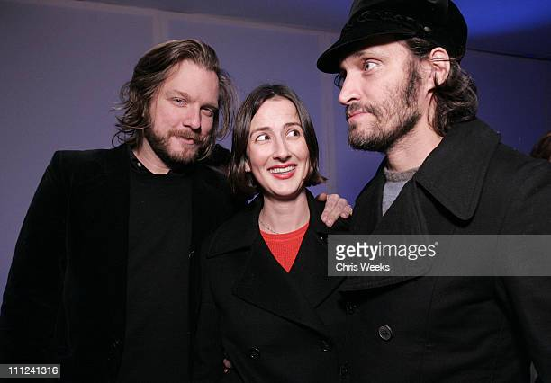 Kelly Cole Anna Getty and Vincent Gallo during Party Celebrating the Premiere of the New TBS Comedy Series 'Daisy Does America' Red Carpet Inside at...