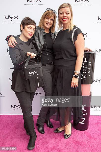 Kelly Coller VP of Retail Marketing Maria Fesler SVP of Retail Nathalie Kristo SVP of Marketing and Global Business Development NYX Executives pose...