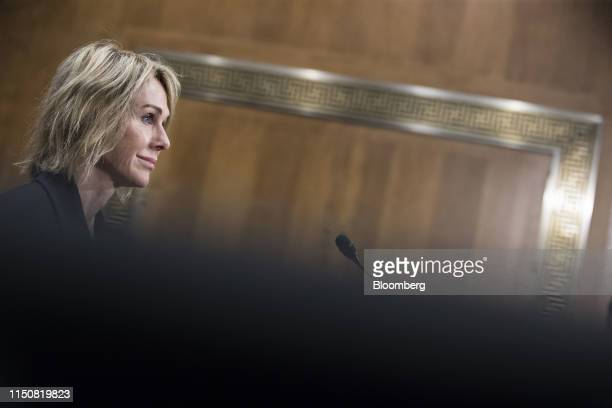 Kelly Craft US ambassador to the United Nations nominee for President Donald Trump listens during a Senate Foreign Relations confirmation hearing in...