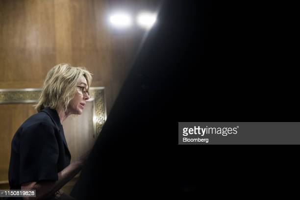 Kelly Craft US ambassador to the United Nations nominee for President Donald Trump speaks during a Senate Foreign Relations confirmation hearing in...