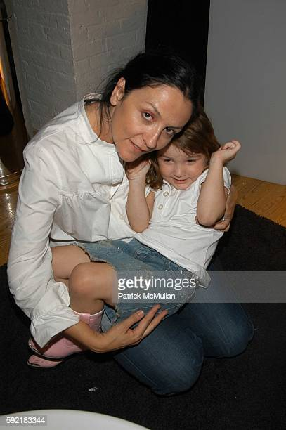Kelly Cutrone and Ava Cutrone attend Kai Kuhne launches Myself Spring 2006 Collection at Altman Building on September 15 2005 in New York City