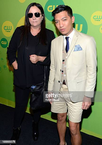 Kelly Cutrone and Brianboy attend the CW Network's 2013 Upfront at The London Hotel on May 16 2013 in New York City
