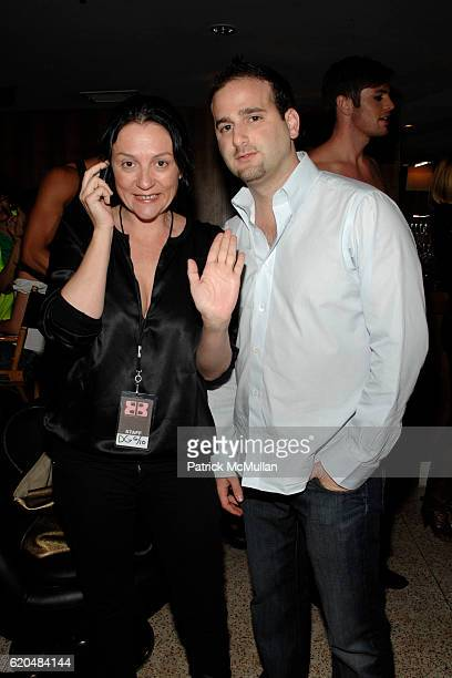Kelly Cutrone and Daniel Guez attend DYLAN GEORGE Launch Party at AREA on June 10 2008 in West Hollywood Ca