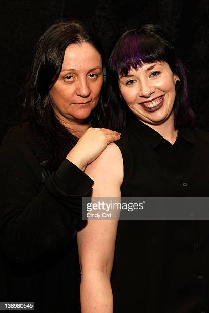 Kelly Cutrone and designer Jackie FraserSwan attend the Emerson Fall 2012 fashion show during MercedesBenz Fashion Week at The Studio at Lincoln...