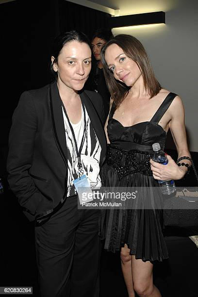 Kelly Cutrone and Jessica Robin Trent attend Whitley Kros LA Fashion Week After Party at Smashbox Studios on March 9 2008 in Culver City CA