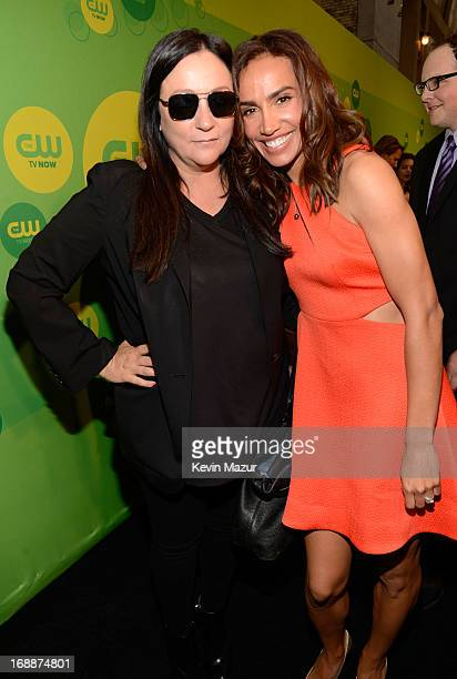 Kelly Cutrone and Nina Lisandrello attend the CW Network's 2013 Upfront at The London Hotel on May 16 2013 in New York City
