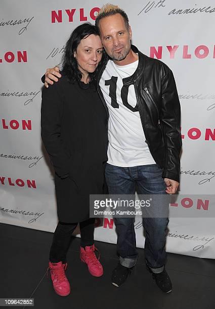Kelly Cutrone and Nylon Magazine editorinchief Marvin Scott Jarrett attend the 10th Anniversary Celebration hosted by Nylon Magazine at Thompson LES...