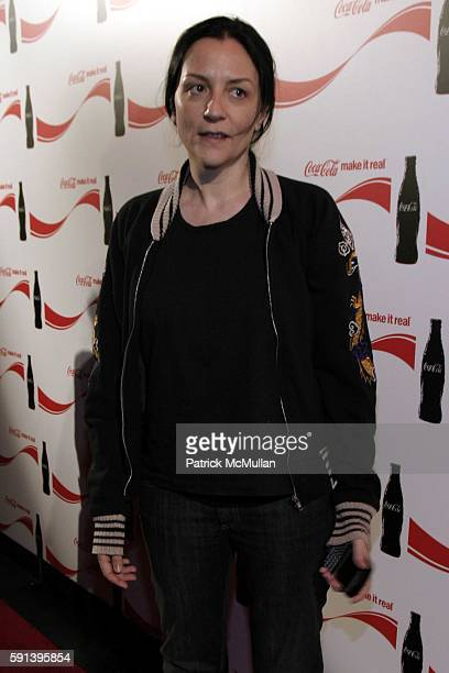 Kelly Cutrone attends CocaCola Make It Real Launch Party with Shepard Fairey and Jennifer Nicholson at Marquee on February 10 2005 in New York City