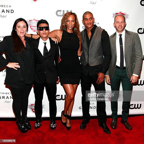 Kelly Cutrone Bryanboy Tyra Banks Rob Evans and Johnny Wujek attend the America's Next Top Model College Edition Cycle 19 Premiere at the Tribeca...