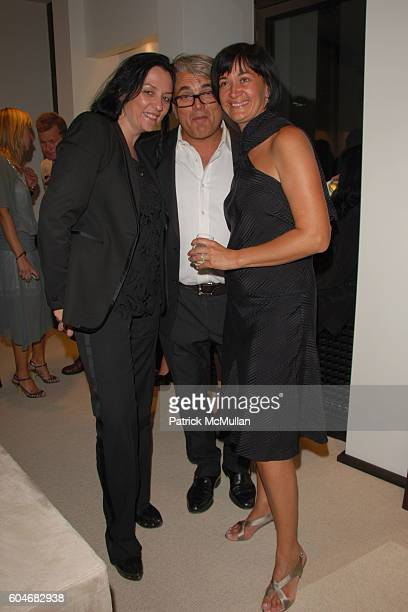 Kelly Cutrone Giuseppe Zanotti and Cinziano attend Giuseppe Zanotti Showing of Spring Collection at Giuseppe Zanotti Boutique on September 13 2006 in...