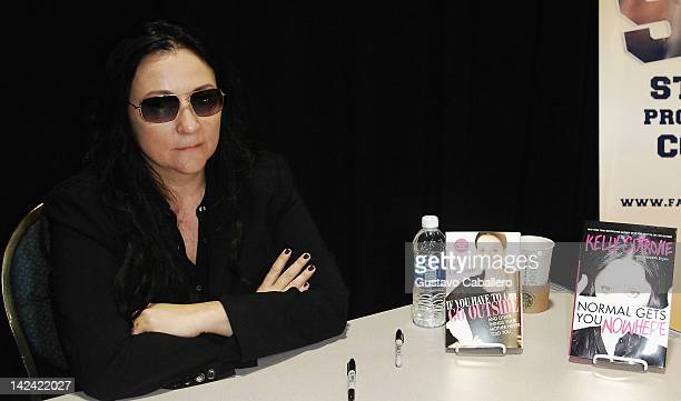 Kelly Cutrone greets fans and signs copies of her books Normal Gets You No Where and If You Have To Cry Go Outside at Florida International...