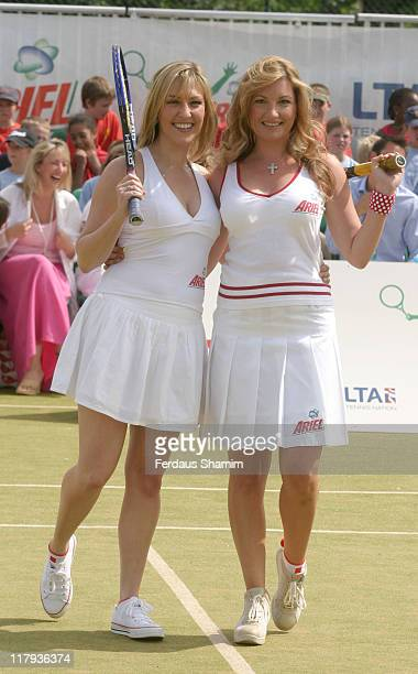 Kelly Dalglish and Karren Brady during Ariel Tennis Ace Finals Day at Wimbeldon Tennis Courts London in London Great Britain
