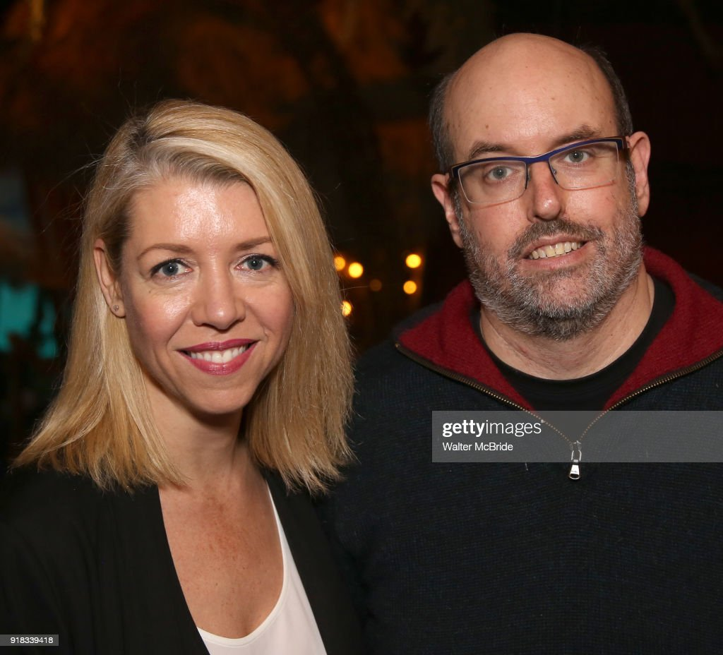 Kelly Devine and Christopher Ashley during the Press Sneak Peak for the Jimmy Buffett Broadway Musical 'Escape to Margaritaville' on February 14, 2018 at the Marquis Theatre in New York City.