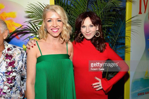 Kelly Devine and Marilu Henner attend the Broadway premiere of 'Escape to Margaritaville' the new musical featuring songs by Jimmy Buffett at the...