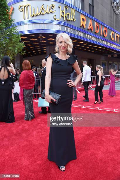 Kelly Devine attends the 2017 Tony Awards at Radio City Music Hall on June 11 2017 in New York City