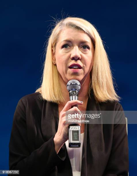 Kelly Devine during the Press Sneak Peak for the Jimmy Buffett Broadway Musical 'Escape to Margaritaville' on February 14 2018 at the Marquis Theatre...