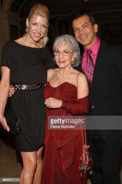 Kelly Devine Tina Ramirez and Sergio Trujillo attend BALLET HISPANICO's Black Slipper Ball at The Plaza Grand Ballroom on April 20 2009 in New York...