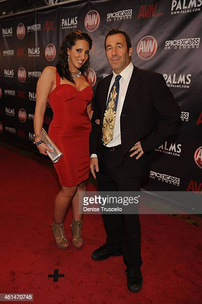Kelly Divine and John Stagliano arrives at the 2010 AVN Awards at the Pearl at The Palms Casino Resort on January 9 2010 in Las Vegas Nevada