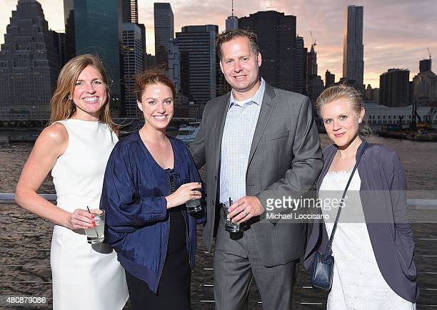 Kelly Donnamiller Victoria Columb Jeff Nicholson and Eleanor Ashford attend the Sunset Soiree Gotham Magazine Cruise at Pier 40 on July 15 2015 in...